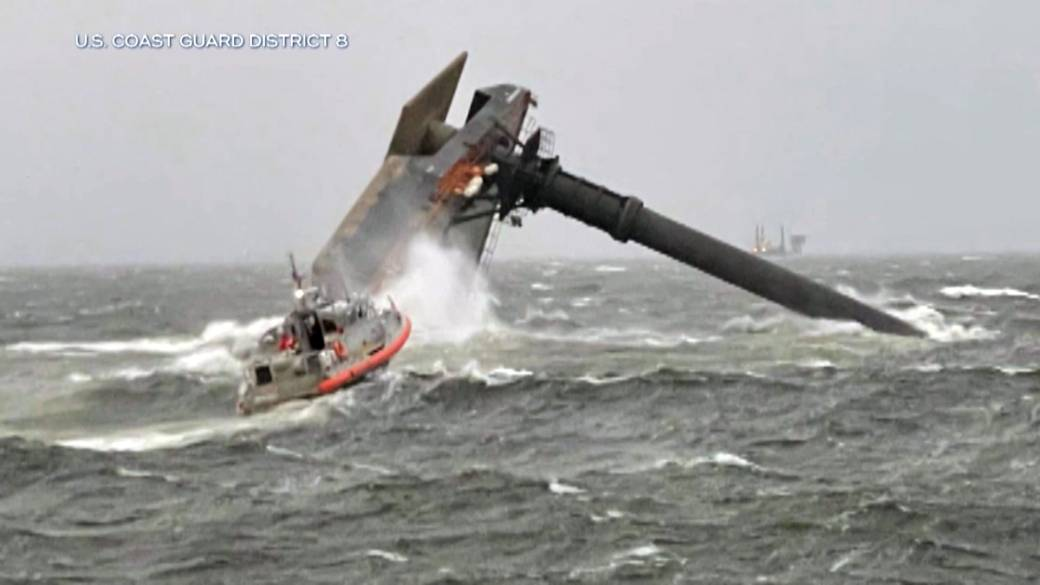 Click to play video: '1 dead, 6 rescued and 12 missing after ship capsizes off Louisiana coast'
