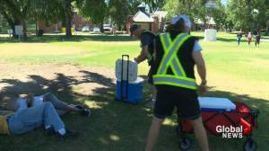 Protecting Lethbridge's vulnerable population a challenge during heat wave (01:47)