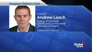 Alberta government now owns part of Sturgeon Refinery (01:59)
