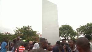 Democratic Republic of Congo becomes latest country to see mysterious monolith appear (02:09)