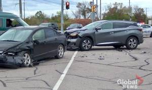 1 injured following collision in north end of Peterborough near Trent University (00:36)