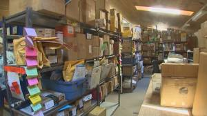 Canadians who rent U.S. Postal Service boxes are put on notice to clear away the overflow (01:53)