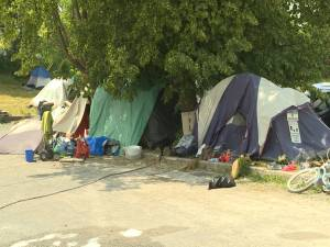 Homeless camped in Belle Park could face eviction on July 7