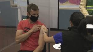 DJs and door prizes: Fraser Health holds overnight vaccine marathon (01:32)