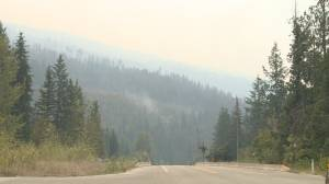 Two Mile Road wildfire now 1,000 hectares (02:11)