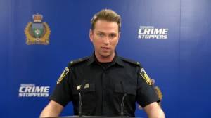 Winnipeg police discuss incident of person climbing construction crane (01:37)