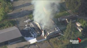 Crews are battling a major fire at Delta winery (00:59)