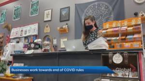 Vaccination status, masks – what can businesses ask of patrons after restrictions lift? (01:41)