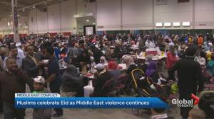 Muslims in Ontario celebrate somber Eid as Israeli-Hamas clashes continue (01:42)