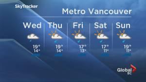 B.C. evening weather forecast: June 9