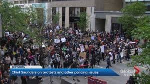Toronto police chief speaks about demonstrations, other policing issues