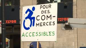 Protestors demand more wheelchair access in Verdun