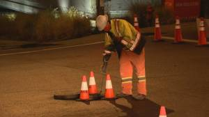 Fire crews respond to gas leak in West Vancouver (02:22)