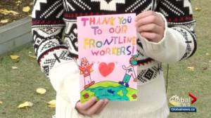 Edmonton students make cards for health-care workers during 4th wave of COVID-19 (00:59)