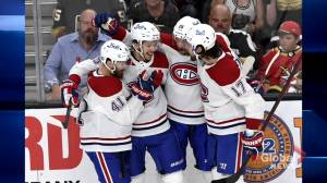 Fan frenzy as Montreal Canadiens one win away from Stanley Cup finals (02:01)