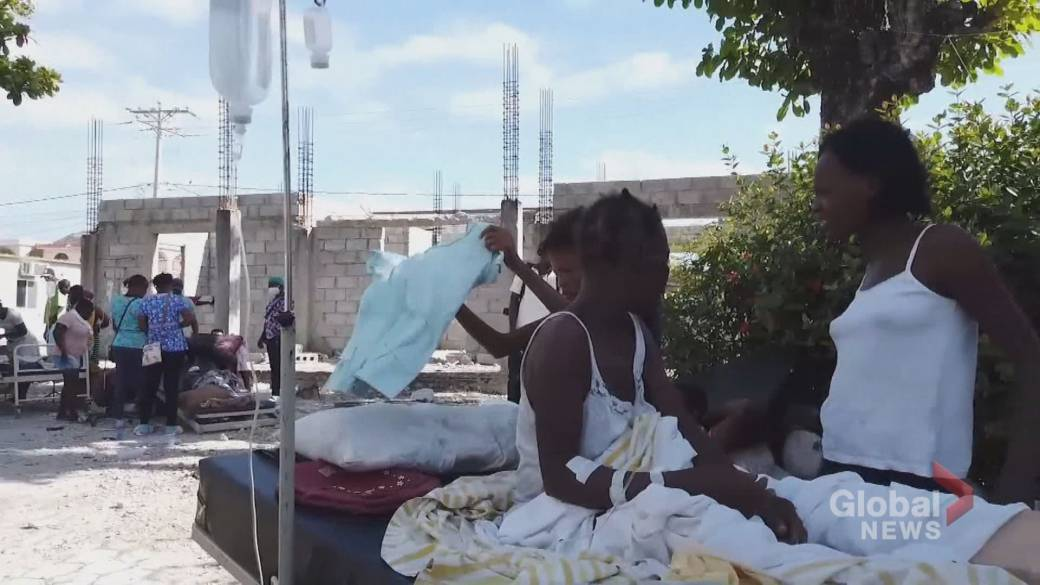Click to play video: 'Haitian Montrealers scramble to send relief following earthquake'