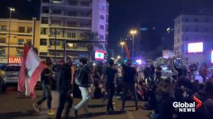 Demonstrators shut down major roads in Beirut amid anti-government protests