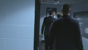 Trevor Linden walking into Rogers Arena