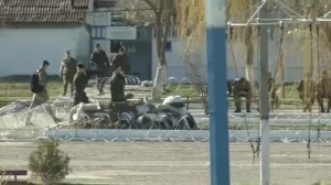 "Ukrainian marines staying put but ""not fighting"" at Feodosia base"