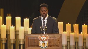 Nelson Mandela's grandson pays tribute during funeral