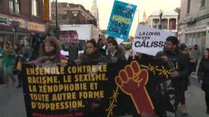 Raw: Protest against Charter of Quebec Values