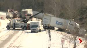 Highway maintenance questioned after another pile up in same area