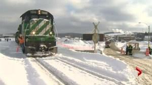 First train passes through Lac-Megantic