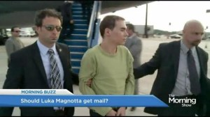 Should Luka Magnotta receive mail in prison?