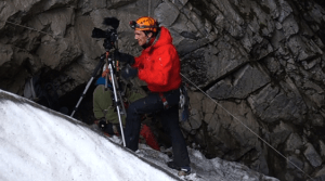 Ice Cave: Filming in Booming Ice Chasm