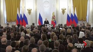 Putin welcomes Crimea to Russia