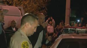 Vin Diesel thanks fans at Paul Walker crash site