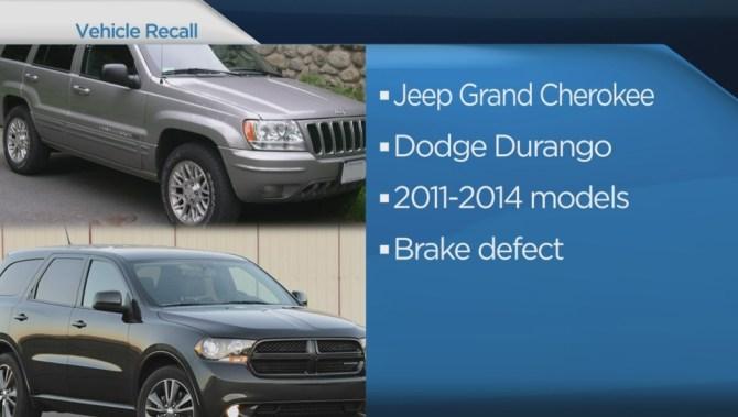 Chrysler Recalling Over 42 000 Suvs In Canada Due To Brake