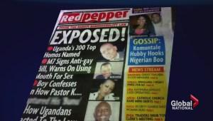 Uganda publishes list of suspected gays