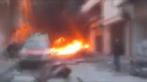 Raw video: Shocking moments following aerial bombardment of Syrian village