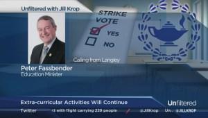 Education Minister on teachers' strike vote