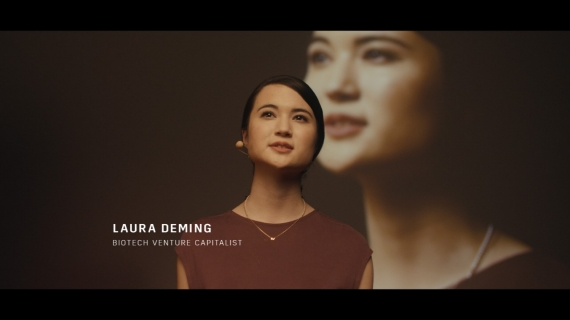 Laura Deming, 24 year-old biotech venture capitalist, and star of Cadillac's new campaign