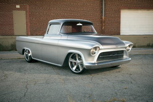 small resolution of this 1957 chevrolet 3100 custom truck better known as quicksilver is a 2014 barrett jackson cup winner and has been recognized as one of the finest