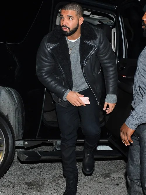 Drakes Winter Clubbing Outfit Is NextLevel Cozy  GQ