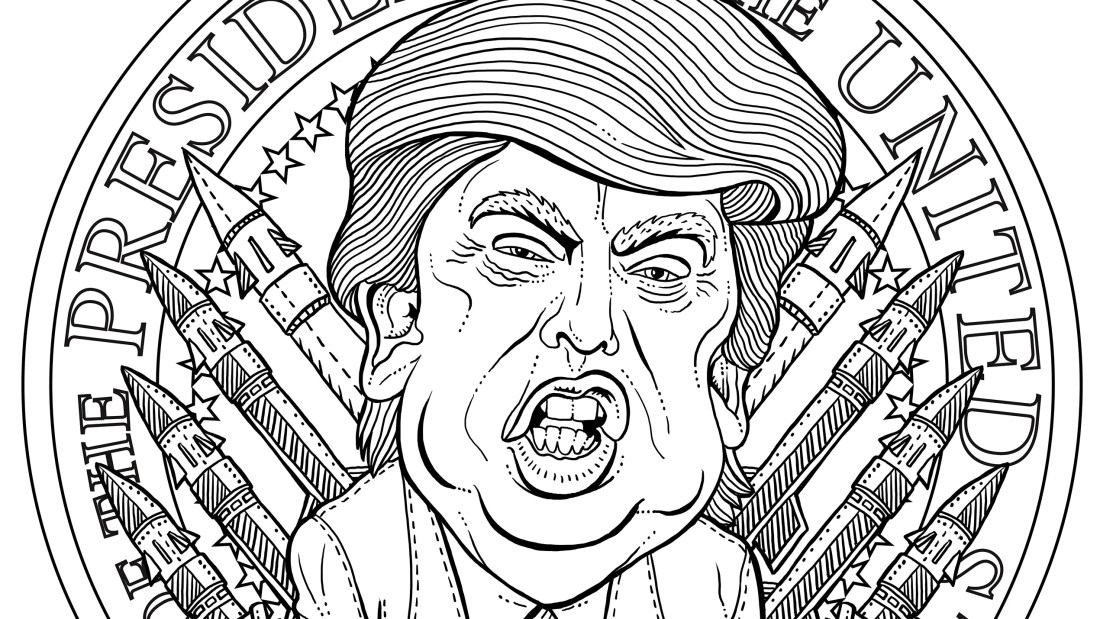 the most terrifying adult coloring book page imagineable | gq