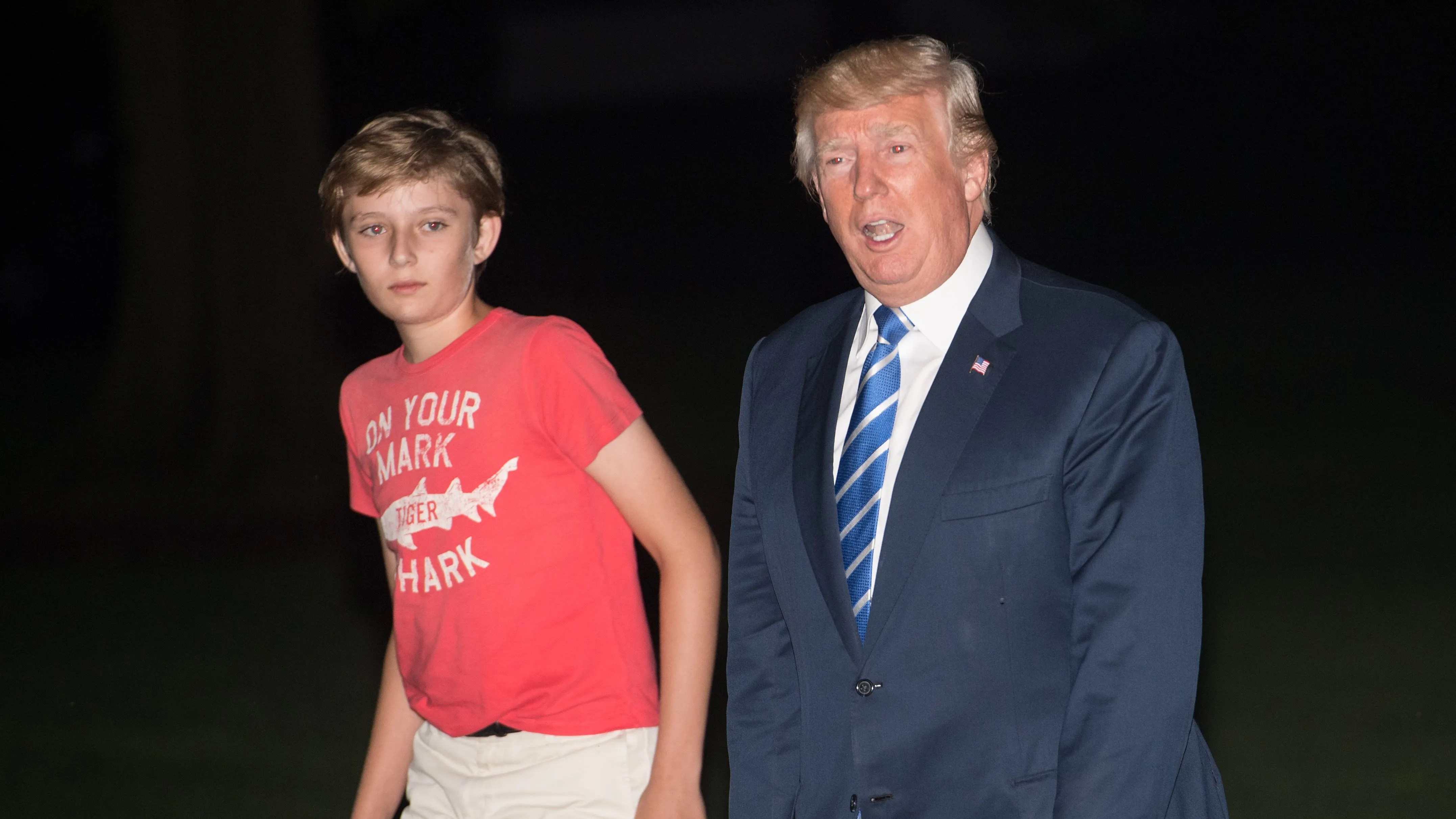 the chair outlet large armless slipcover barron trump should be allowed to wear whatever he wants   gq