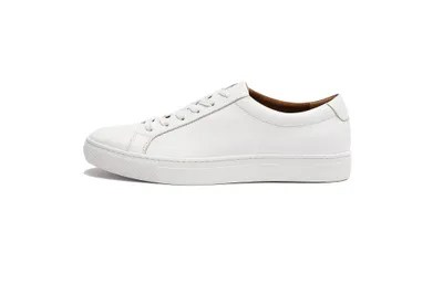 White Leather Slip On Shoes Mens
