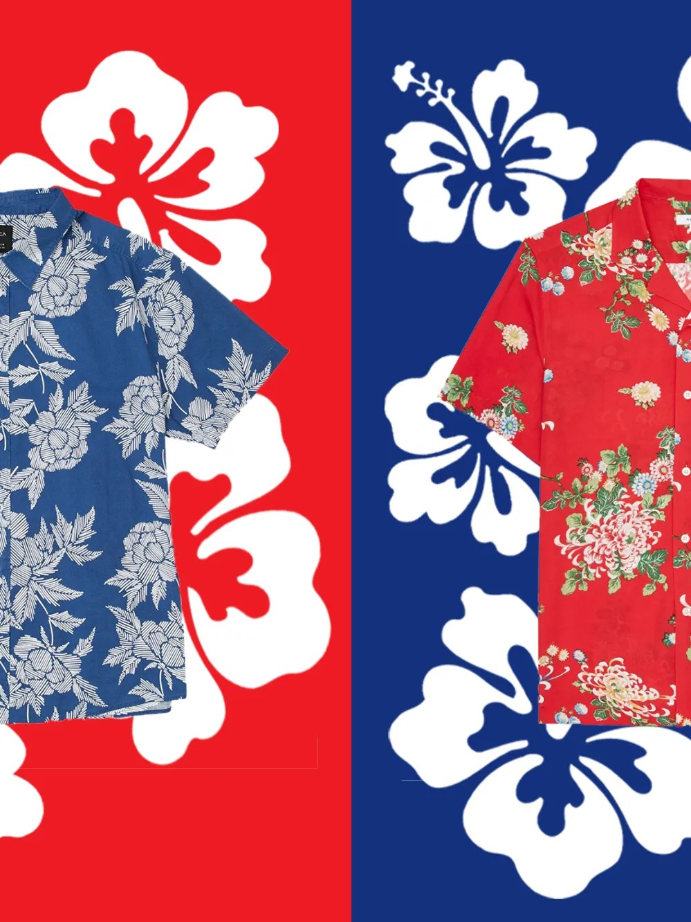 Hawaiian Shirt Patterns : hawaiian, shirt, patterns, Hawaiian, Print, Shirt, Summer