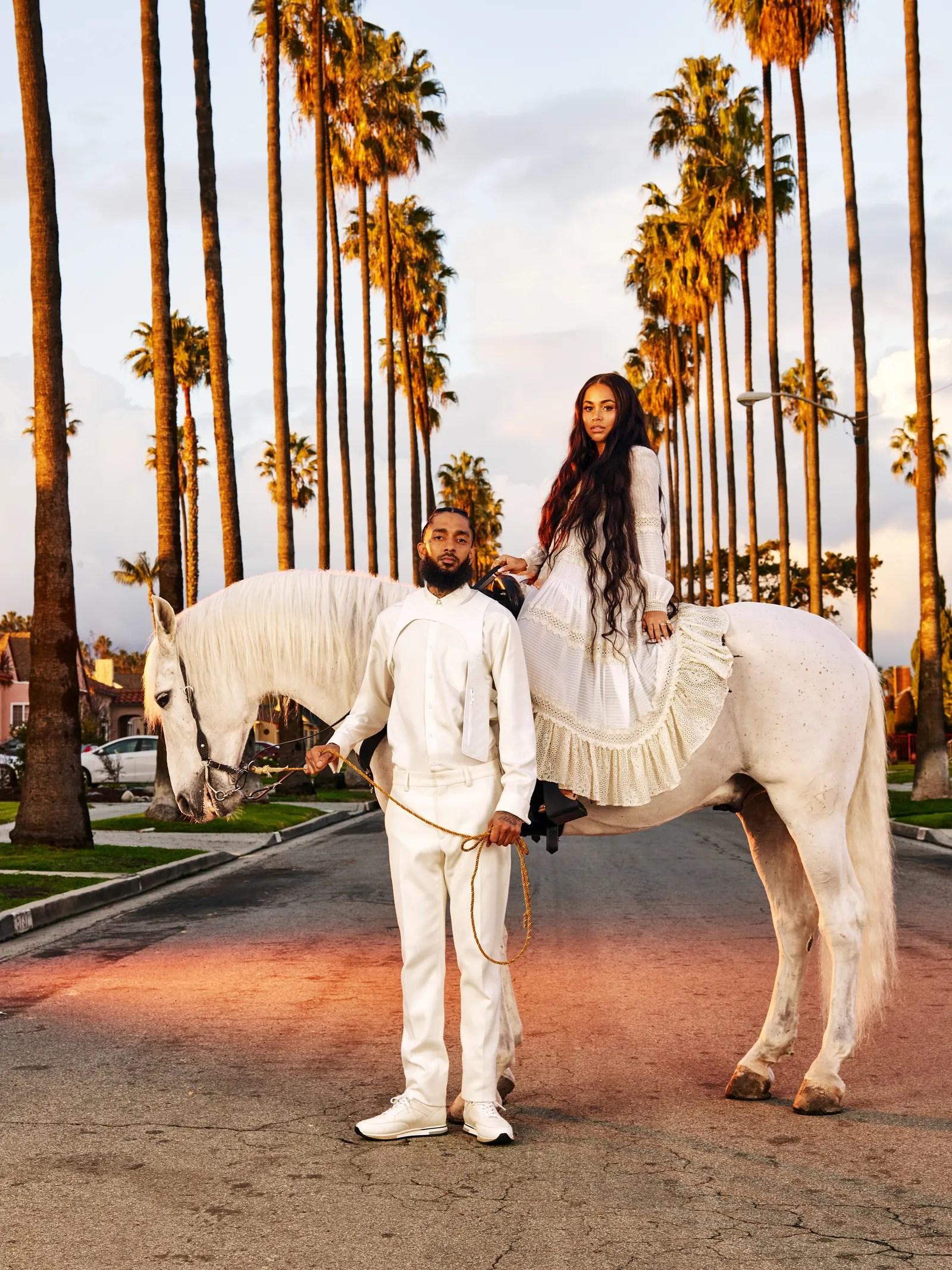 Hustle Hard Girl Wallpaper Nipsey Hussle And Lauren London California Love Gq