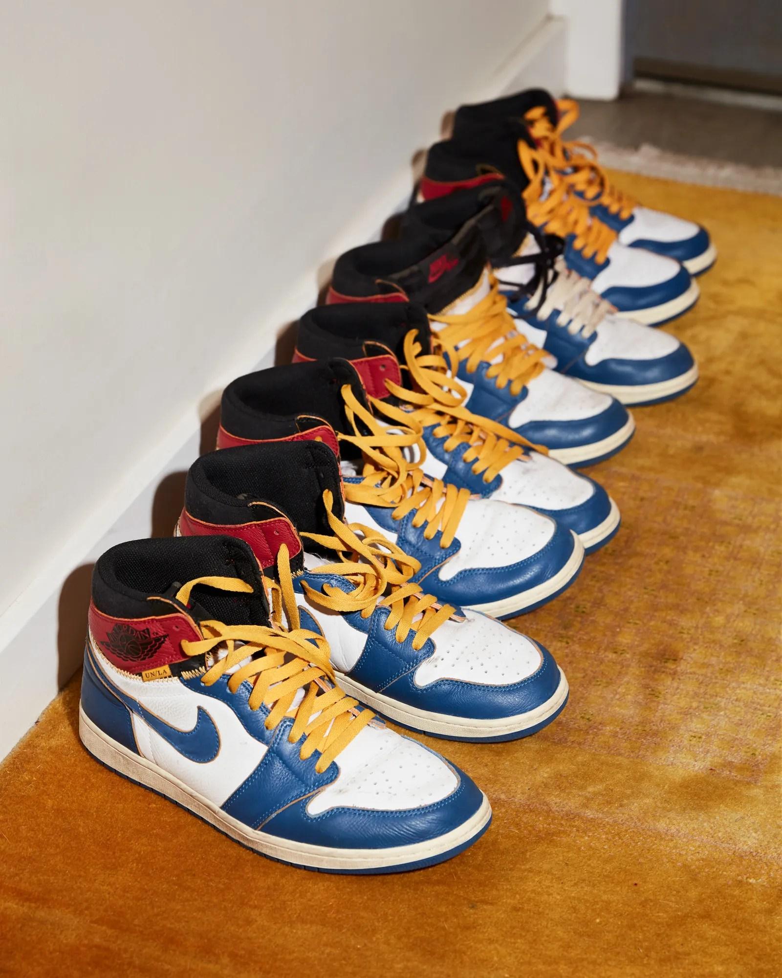Shoes by Union x Jordan.