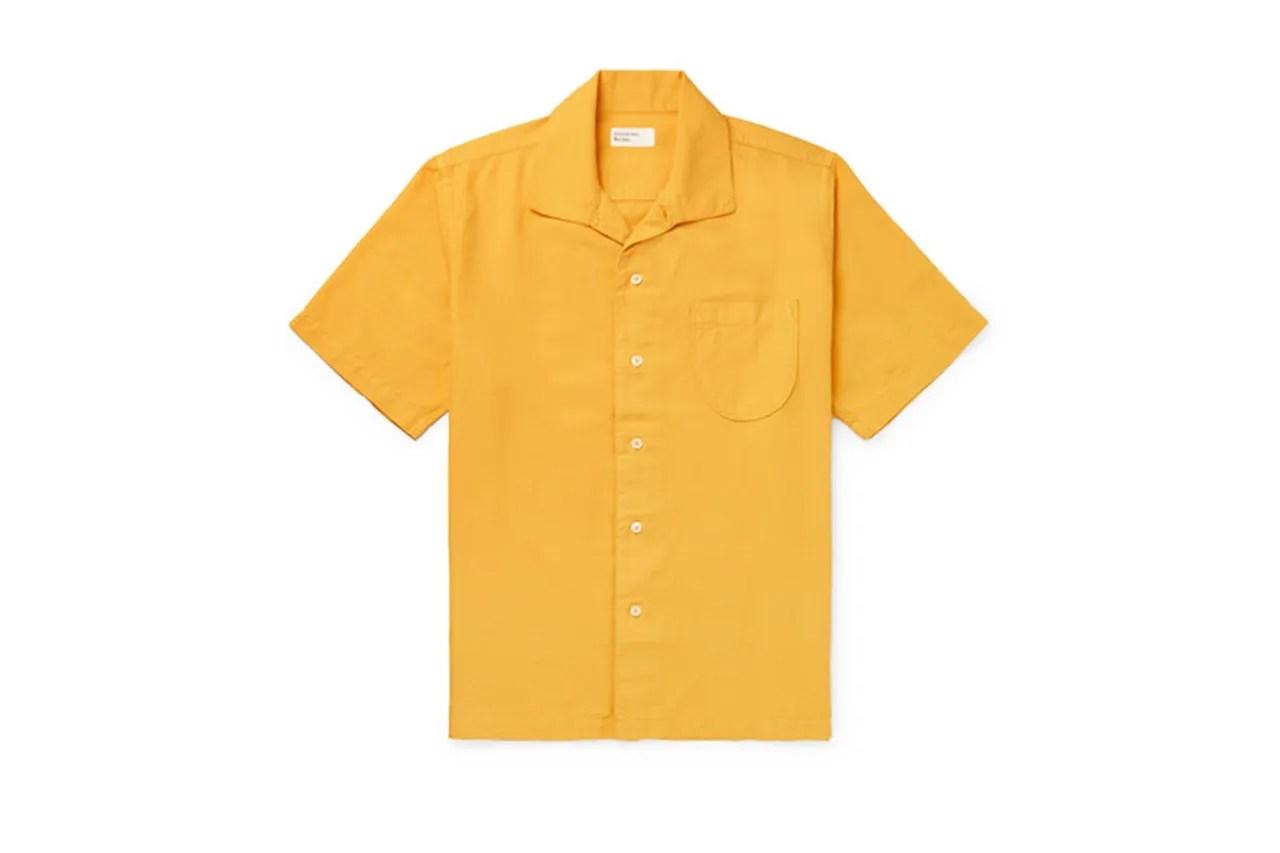 Universal Works camp collar Oxford shirt