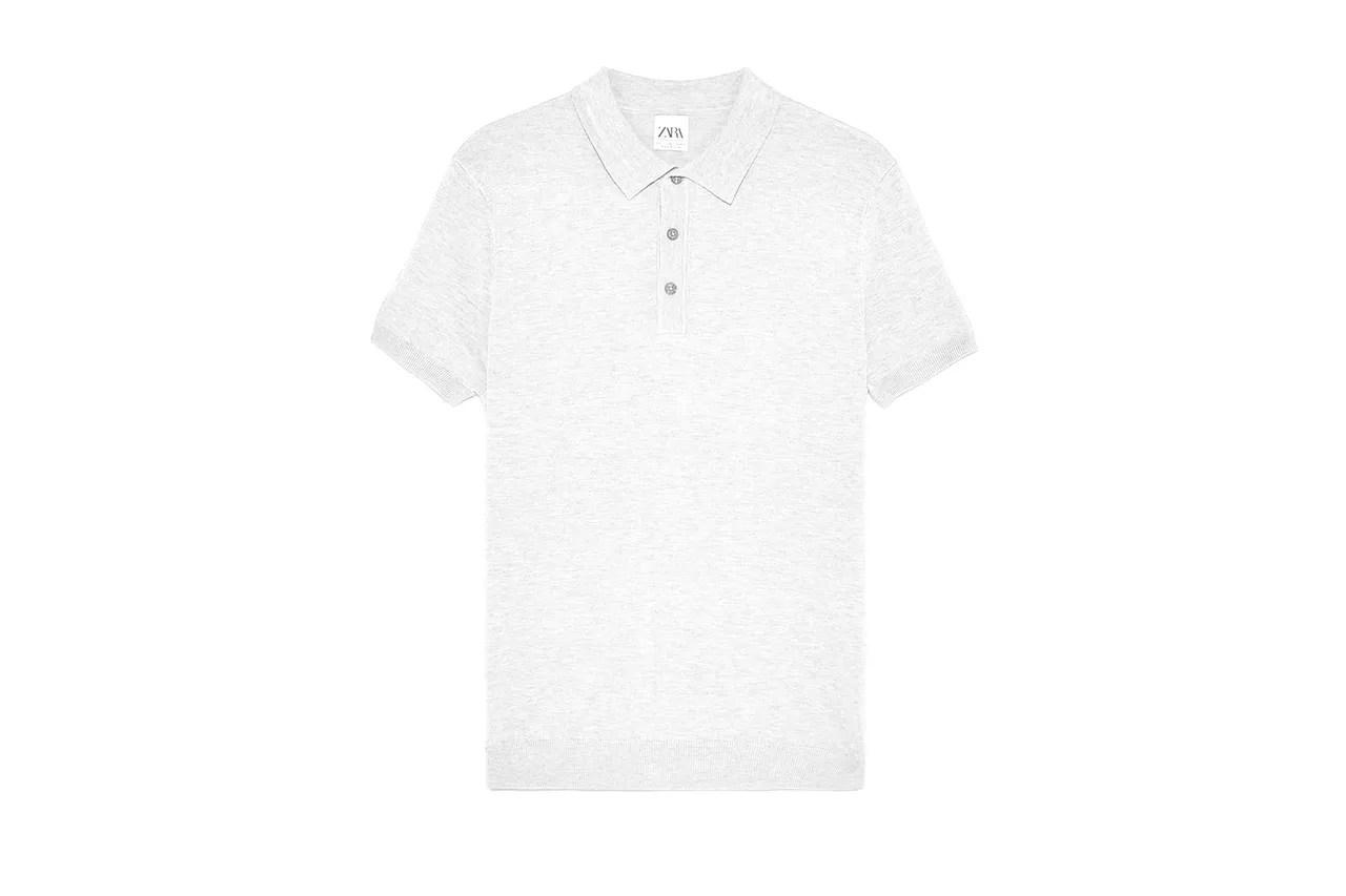 Zara short sleeved knit polo shirt