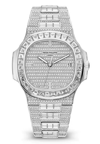 Patek Philippe Nautilus Date Sweep Seconds White Gold