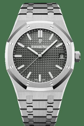 A silver steel watch