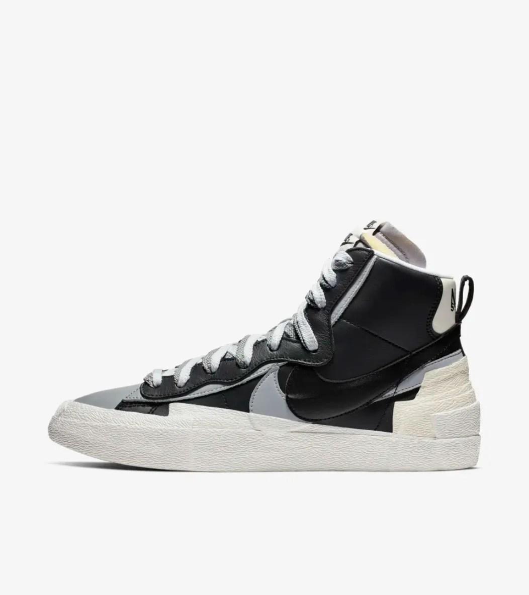 A side profile of the Nike Sacai Blazer