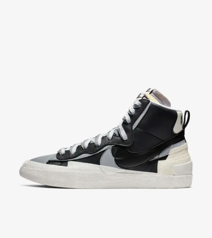A side profile of the Nike Sacai Blazer